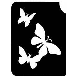 Glitter Tattoo Sjabloon Vlinder trio 173B