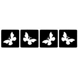 Vlindertjes 4x