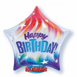Star Bubble Happy Birthday