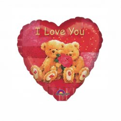 Folie Ballon I love You Bears