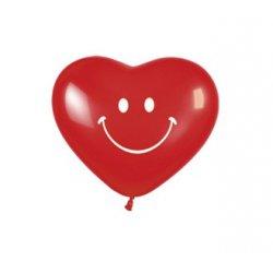 15 cm Hartjes Rood Smiley