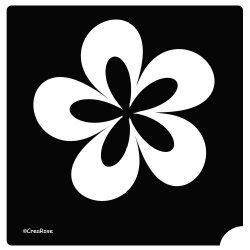Glitter Tattoo Sjabloon Crea Flower 26Z