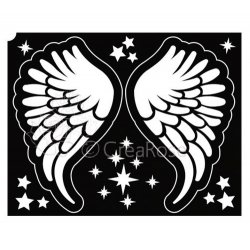 Glitter Tattoo Sjabloon Vleugels met Sterren