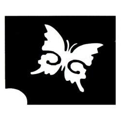 Glittertattoo Sjabloon Vlinder A5
