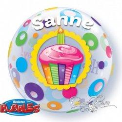 Bubble Helium Ballon Happy Birthday met Naam