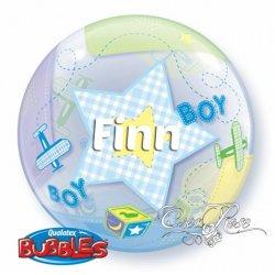 Bubble Helium Ballon Baby Boy met Tekst