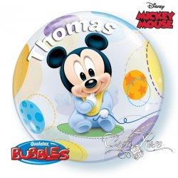 Bubble Helium Ballon Baby Mickey met Tekst