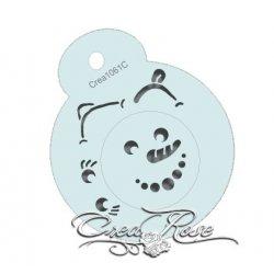 Schmink Sjabloon Sneeuwpop voor Kerstbal Crea1061D Design door Kim van Nieuwaal