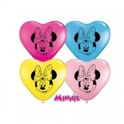 Minnie Mouse Face Hart Ballon