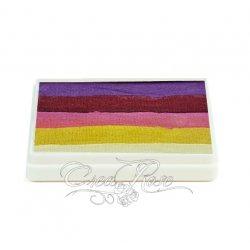 Splitcake paars, rood, roze, geel, wit
