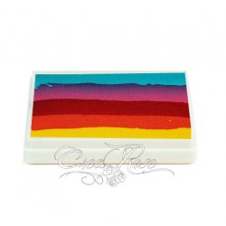 Splitcake Sea Green, Coral Pink, Light Red, Golden Orange, Yellow
