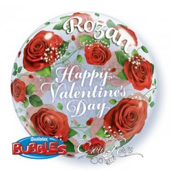 Bubble Ballon Valentijn Roses met tekst 071444275132