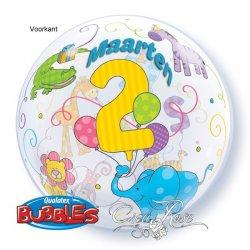 Bubble Ballon 2 met Dieren met Tekst