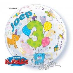 Bubble Ballon 3 Huisdieren met tekst