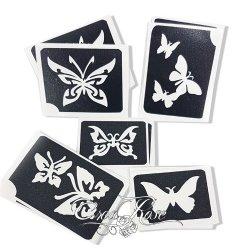 Voordeelset Glitter Tattoo Sjablonen Vlinders