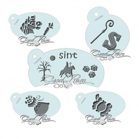 Schmink Sjabloon Mini Sinterklaas Set