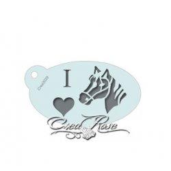 Schmink Sjabloon S I Love Paarden CREA3029
