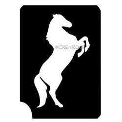 Glitter Tattoo Sjabloon Stijgerend Paard 03Z