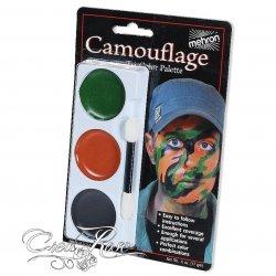 Mehron Tri-colorCream Palette Camouflage