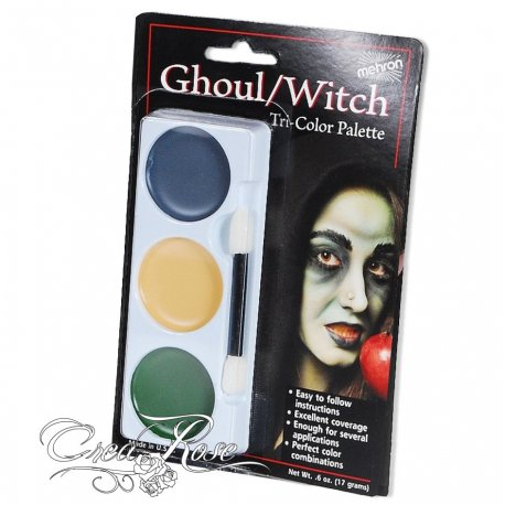 Mehron Tri-color Cream Palette Witch