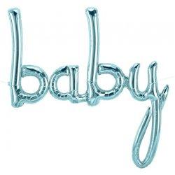Folie Ballon Baby Metallic Blue