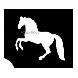 Glitter Tattoo Sjabloon Paard 04Z